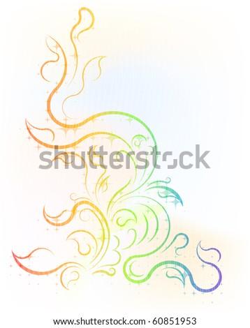Colorful decorative corner - stock vector