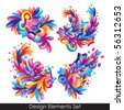 Colorful decorative element for your design - stock photo