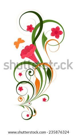 Colorful Decorative Floral - stock vector