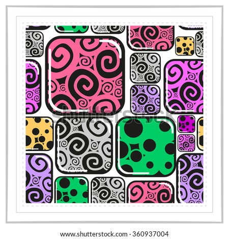 Colorful Decorative Seamless. Seamless pattern in frame - stock vector