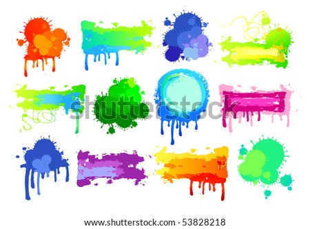 Colorful design elements - stock vector