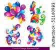 Colorful design elements set - stock vector