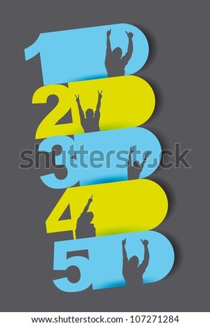 colorful design templates numbered over gray background. vector - stock vector