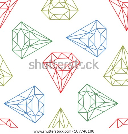 Colorful diamonds background. Geometric seamless background with linear diamonds. - stock vector