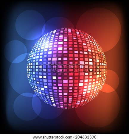 Colorful disco ball vector background. Eps10