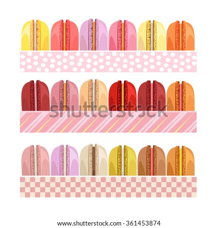 Colorful donuts icons detailed photo realistic vector set. Delicious desserts. Can be used for menu design. Assorted confectionery. Yummy cupcakes, donuts. Tasty sweets. Collection of bakery products
