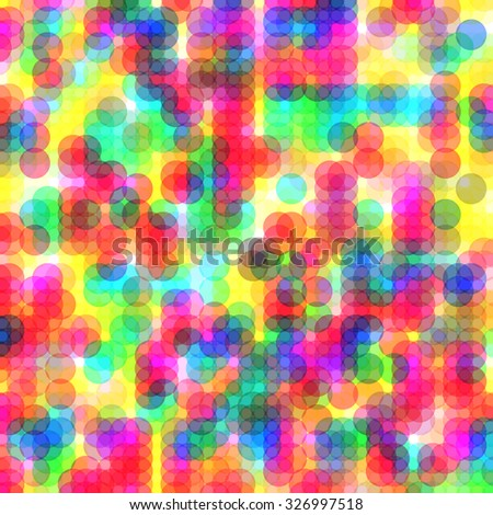 Colorful dots abstract vector art background with vibrant tones - stock vector