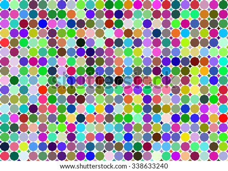 Colorful dots background. Dots in circles colorful backdrop.