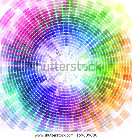 colorful dotted background, techno style background design