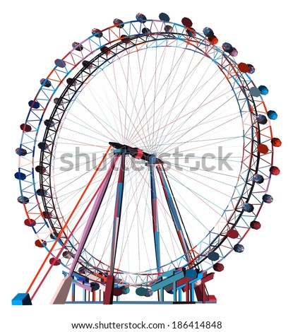 Colorful Double Carousel Vector 26 - stock vector