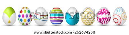 colorful easter eggs - stock vector