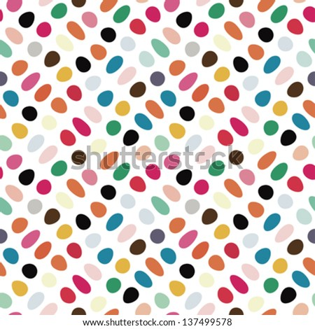 Colorful easter eggs  print. Seamless pattern. Vector. - stock vector