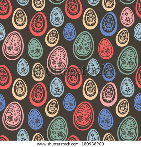 Colorful Easter eggs seamless pattern.