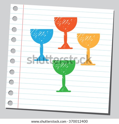 Colorful egg cups - stock vector