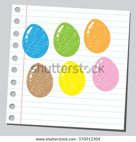 Colorful eggs - stock vector