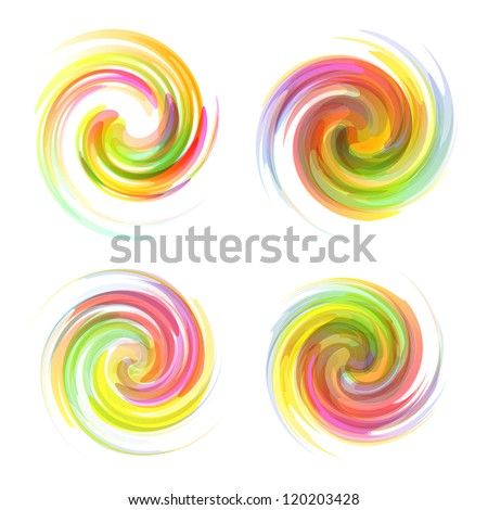 Colorful element set. Vector collection.