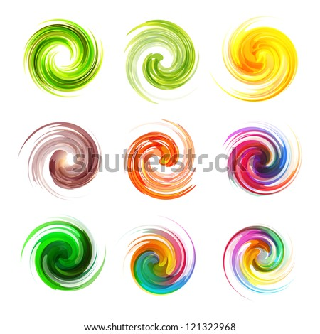Colorful element set. Vector collection. - stock vector
