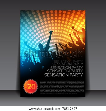 Colorful EPS10 design – Sensation Party - Vector Background - stock vector