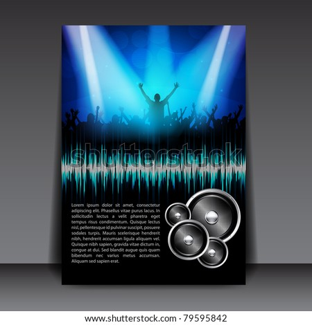 Colorful EPS10 Flyer Design – Sensation Party - Vector Background - stock vector