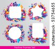 Colorful festive frames set for your design - stock vector
