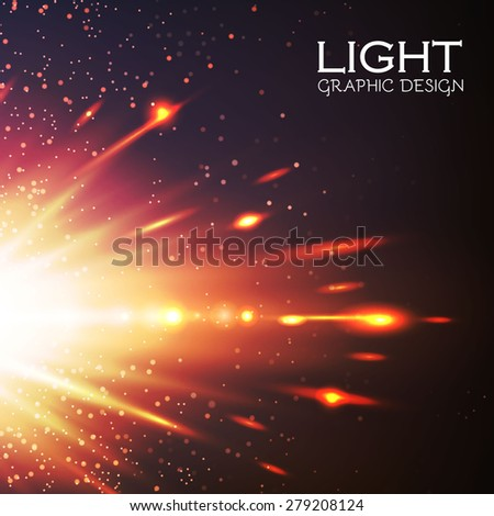 Colorful flash lights. Vector illustration