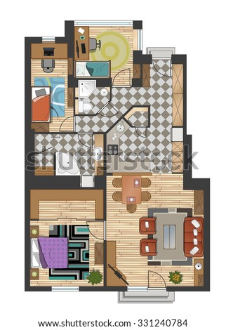 Home Plan Stock Images Royalty Free Images Vectors