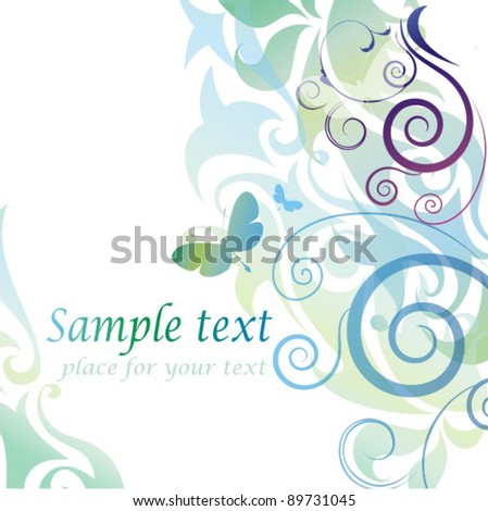 Colorful floral background - stock vector