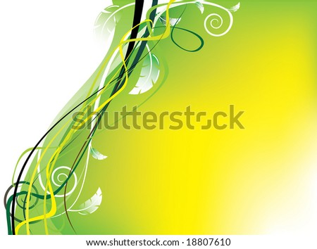 colorful floral design in vector