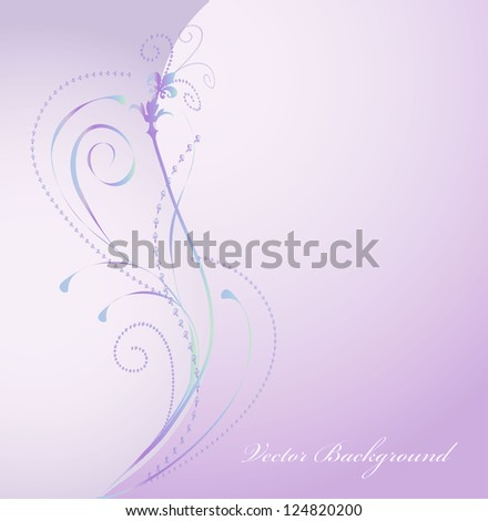 colorful flower background, vector - stock vector