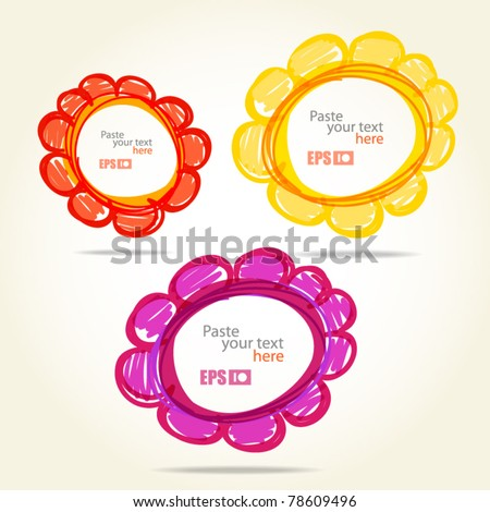 Colorful flowers. Template for any text - stock vector