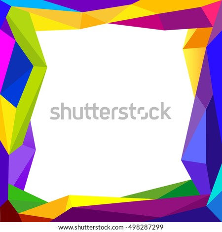 Colorful Frame Blank Background Design Concept Stock Vector ...