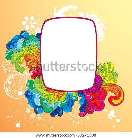 Colorful frame for your message. Strokes were not expanded, you can change it's size and color. - stock vector