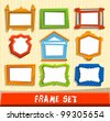 colorful frame set - stock vector