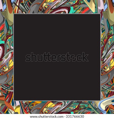 Colorful frame. Vector EPS10 - stock vector
