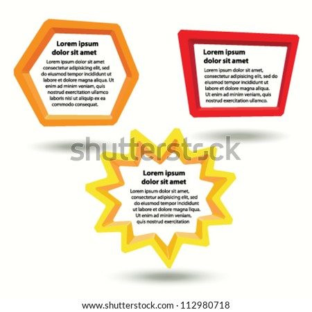 Colorful frames for text, vector background - stock vector