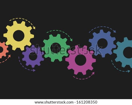 Cogs Colorful Gears Or Vector Stock Photos, Images ...