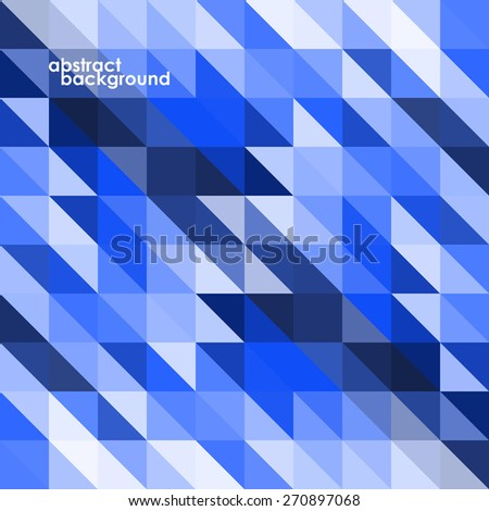 Colorful geometric abstract background with triangles. Vector illustration. Eps 10 - stock vector