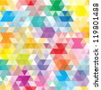 colorful geometric background - stock photo