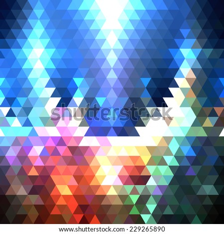Colorful geometric background, abstract triangle pattern vector. - stock vector