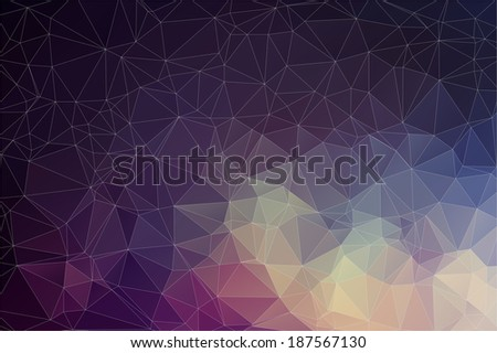 Colorful geometric background with triangles - stock vector