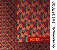 Colorful geometric retro pattern - stock vector