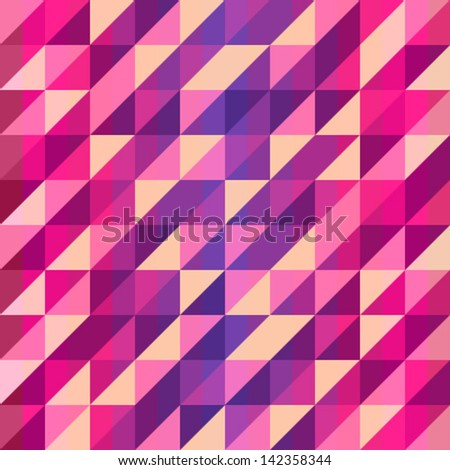Colorful geometric Retro pattern, vector illustration - stock vector
