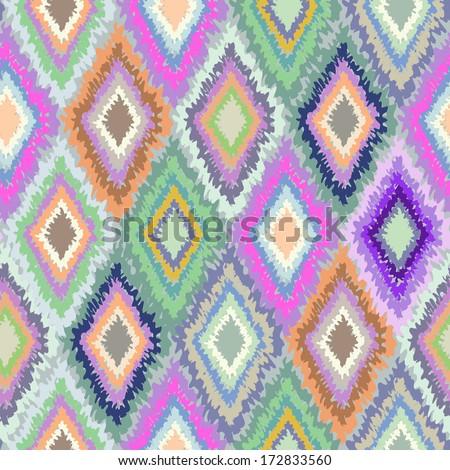 Colorful geometric rhombus ~ seamless vector print - stock vector