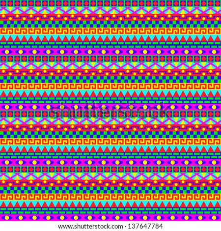 Colorful Geometric Stripes Pattern - stock vector