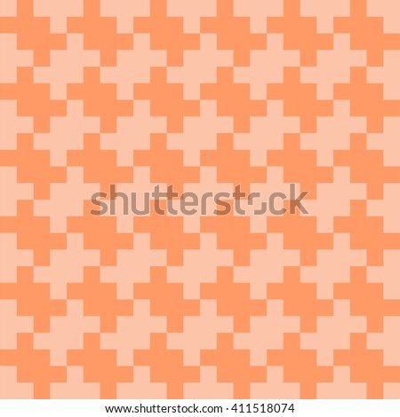 Colorful geometric vector pattern with interlocking shapes, puzzle pattern, ethnic motifs - stock vector