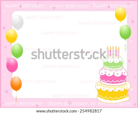 Birthday Border Stock Images, Royalty-Free Images & Vectors ...