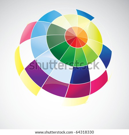 Colorful Globe Design - stock vector