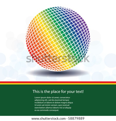 Colorful Globe Design Vector