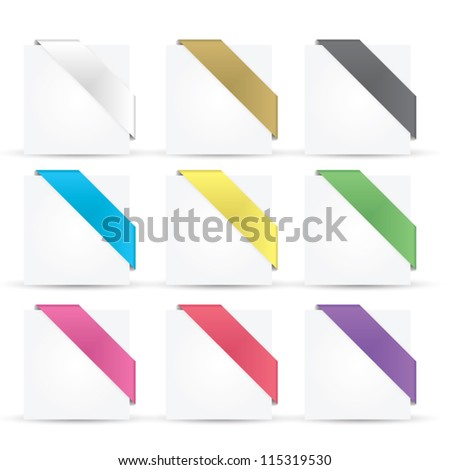 Colorful glossy ribbons eps10 vector - stock vector