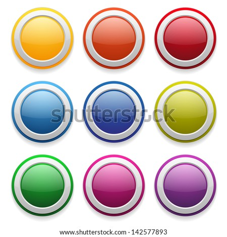 Colorful glossy round buttons
